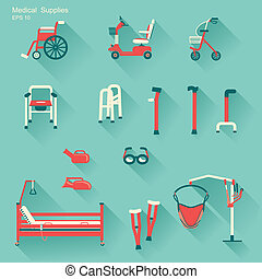 medical hospital equipment for disabled peopleVector...