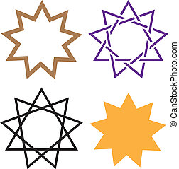 Bahai Star - bahai star vector illustration clip-art eps