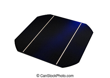 "Solarcell - a isolated 5"" solarcell with withe background"