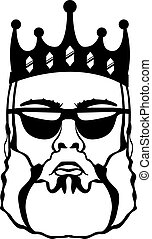 King Beard - king beard illustration clip-art vector eps