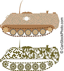 Personnel Carrier - personnel carrier vector illustration...