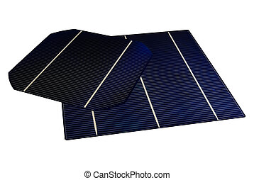 "Solarcells - a isolated 5"" & 6\"" solarcell with withe..."