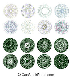 Guilloche rosette, vector pattern. EPS 8