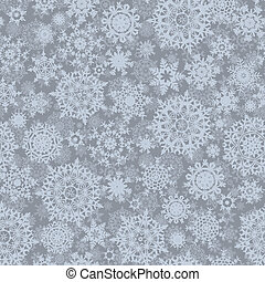 Abstract seamless snowflake pattern. EPS 8