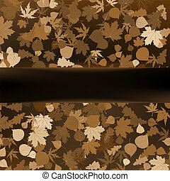 Brown autumnal design template. EPS 8