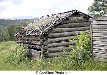 Wild West Cabin 2 - Pioneer structure at Fort Steele Canada