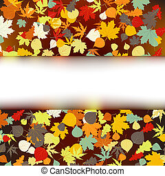 Colorful autumnal design template. EPS 8