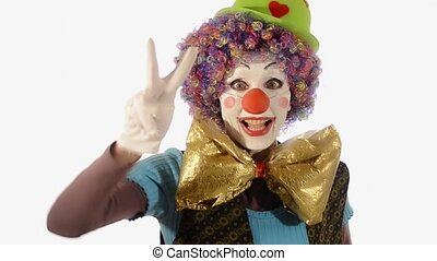 very happy new year with the clown - A clumsy clown does the...