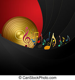 Golden Disc and Music Notes