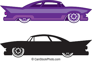 Hot Rod  - hot rod vector illustration clip-art eps