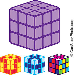Color Cube - color cube vector illustration clip-art eps