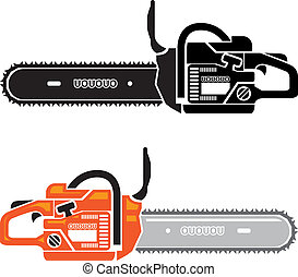 Chain Saw  - chain saw vector illustration clip-art eps