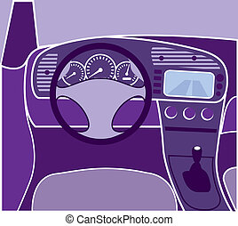 Car Interior - car interior vector purple illustration eps...
