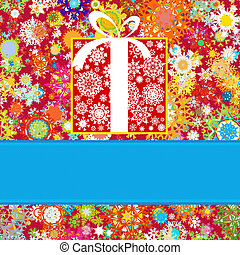 Colorful snowflakes pattern gift card. EPS 8