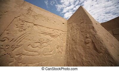 Big walls of the Huaca Arco Iris in Trujillo, Peru
