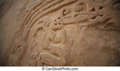 Nice Details of the Huaca Arco Iris in Trujillo, Peru -...