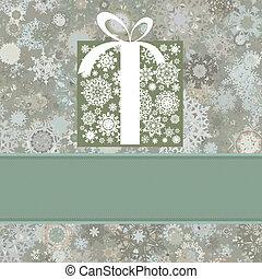 Retro Christmas card. EPS 8