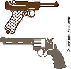 pistolas,  retro