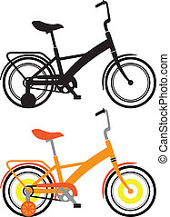 Kids Bicycles - kids bicycles vector illustration clip-art...