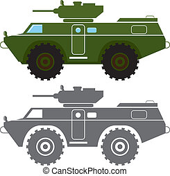 Combat Vehicle - combat vehicle illustration clip-art eps...
