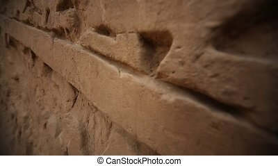 Relief at the walls of the Huaca Esmeralda in Trujillo, Peru...