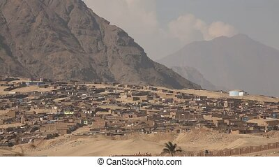 Huts in the desert near Trujillo in Peru - Video footage of...