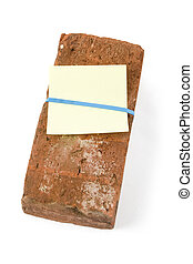 Red Brick and Threat letter with white background