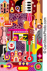 Jazz Festival Poster - Jazz Festival vector illustration....