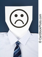 Paper Sad Face, Business Concept