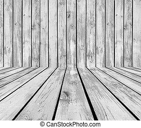 Grey Wooden Room