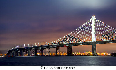 Oakland Bay Bridge at Sunset, San Francisco CA