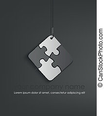 vector puzzle web icon design element