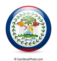 Round glossy icon of Belize