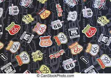 Route 66 Signs Illustration - Famous Route 66 Signs in this...