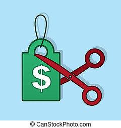 Price Tag Cut Scissors