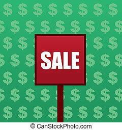 Sale Sign Dollar Background