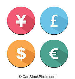 flat icon with shadow - currency ba - suitable for user...
