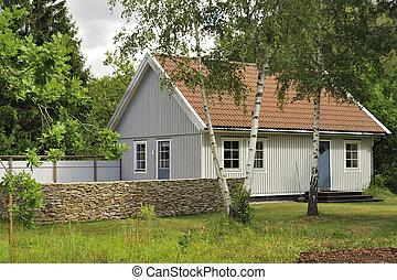 svensk, hus