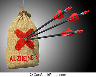 Alzheimers - Arrows Hit in Red Mark Target - Alzheimers -...