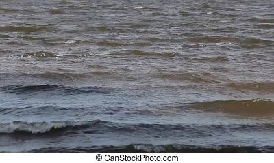 background waves dirty water from ukraine