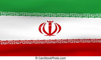 Waving Iran Flag