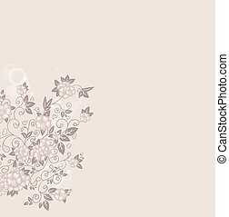 Hand drawn decorative background with flowers