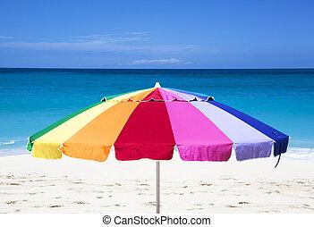 Beach Umbrella - The colorful umbrella on Paradise Island...