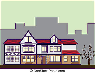 Red Roof House - red roof house illustration clip-art eps