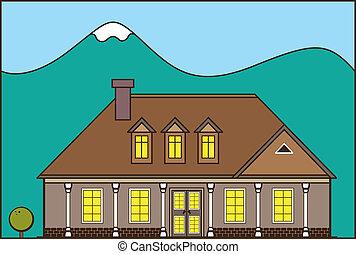 Estate Ranch - estate ranch illustration clip-art eps vector