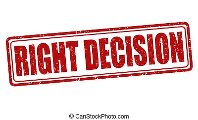 Right decision stamp
