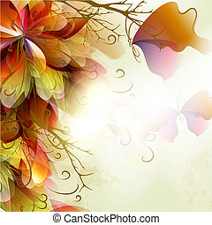 Abstract floral background - Spring abstract colorful...