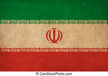 Iran flag drawing ,grunge and retro flag series