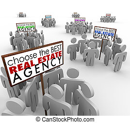 Choose Best Real Estate Agency People Around Signs Agents -...