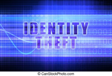 Identity Theft on a Tech Business Chart Art